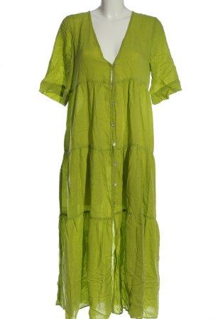 Zara Kurzarmkleid grün Casual-Look