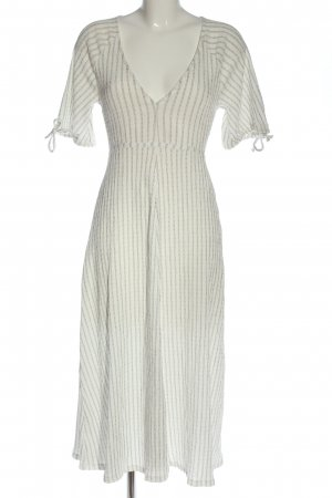 Zara Kurzarmkleid weiß-schwarz Streifenmuster Casual-Look
