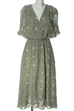 Zara Kurzarmkleid khaki Elegant