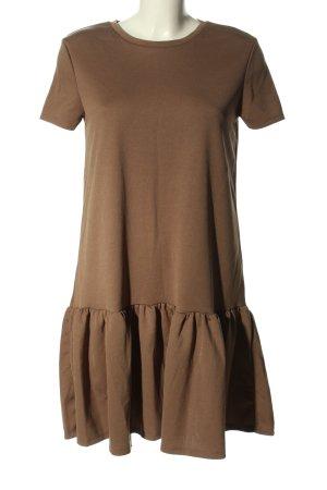 Zara Kurzarmkleid bronzefarben Casual-Look