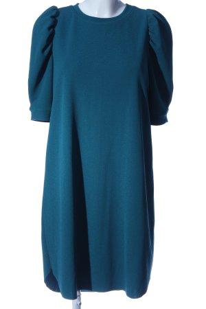 Zara Kurzarmkleid blau Casual-Look