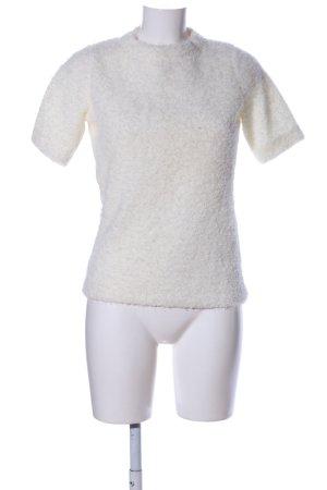 Zara Maglione a maniche corte bianco sporco stile casual