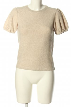 Zara Short Sleeve Sweater cream flecked casual look