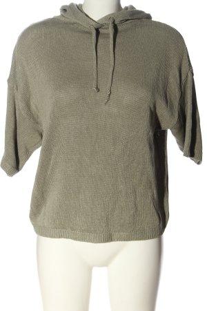 Zara Short Sleeve Sweater khaki casual look