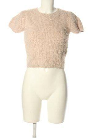 Zara Kurzarmpullover pink Casual-Look