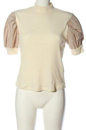 Zara Jersey de manga corta crema-blanco puro look casual