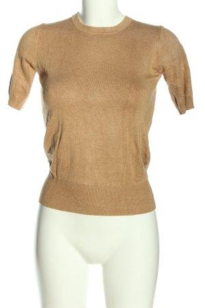 Zara Jersey de manga corta marrón look casual