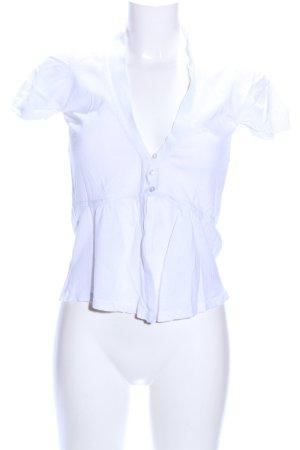 Zara Cárdigan de manga corta blanco look casual