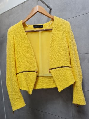 Zara Woman Tweed Blazer multicolored
