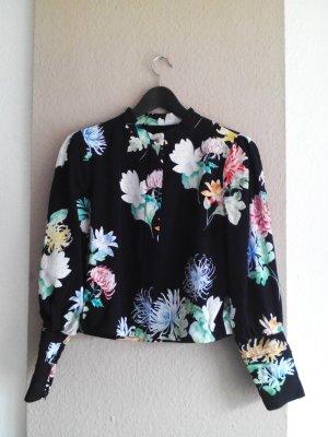 Zara kurze leichte Jacke mit Blumenmuster, Größe L, neu