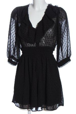 Zara Kurzer Jumpsuit schwarz Punktemuster Elegant