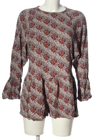 Zara Kurzer Jumpsuit Allover-Druck Casual-Look
