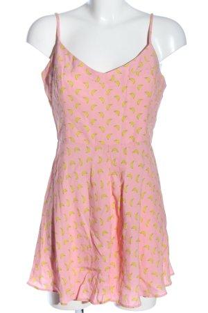 Zara Kurzer Jumpsuit pink-blassgelb Allover-Druck Casual-Look