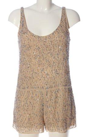 Zara Kurzer Jumpsuit creme Elegant