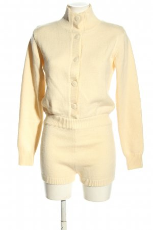Zara Kurzer Jumpsuit creme Casual-Look