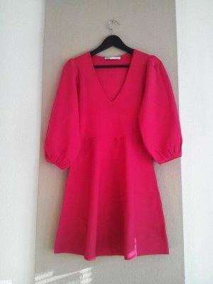 Zara kurzes Kleid in pink mit Ballonärmeln, Größe S, neu