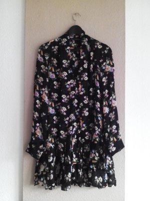 Zara kurzes Kleid mit Blumendruck und Volants aus 100% Viskose, Größe S, neu