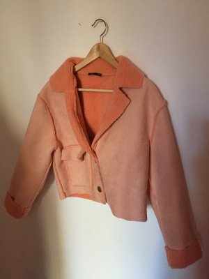 Zara Chaqueta de aviador albaricoque-rosa