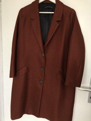 Zara Woman Cappotto corto marrone-rosso-ruggine