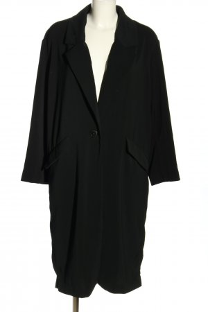 Zara Heavy Pea Coat black casual look