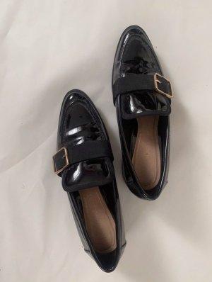 Zara Lack loafer schwarz 38
