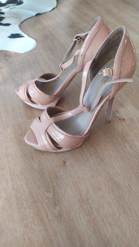 Zara lack Rose Schuhe High Heels gr 38