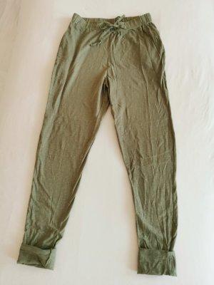 Zara lässige leichte high waist Hose in Khaki