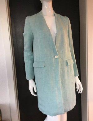 Zara Basic Geklede jurk lichtblauw