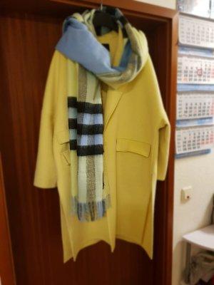 Zara Lana Wool Mantel pastel gelb  Gr M/38
