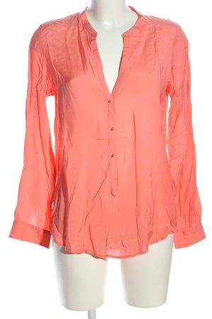 Zara Langarm-Bluse pink Business-Look