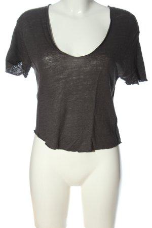 Zara T-Shirt hellgrau Casual-Look
