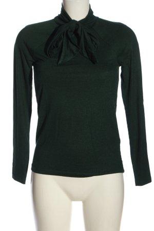 Zara Langarm-Bluse grün meliert Casual-Look