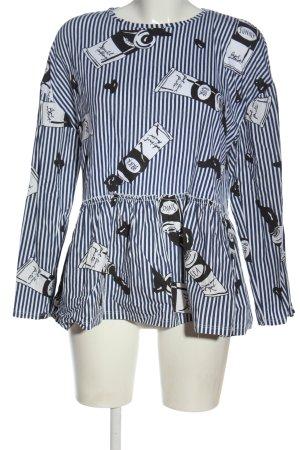 Zara Langarm-Bluse Allover-Druck Casual-Look