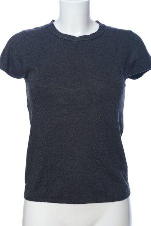 Zara Langarm-Bluse blau meliert Casual-Look