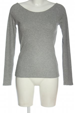 Zara Koszulka z długim rękawem jasnoszary Melanżowy W stylu casual