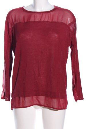 Zara Langarm-Bluse rot Business-Look