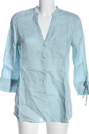 Zara Langarm-Bluse blau Business-Look
