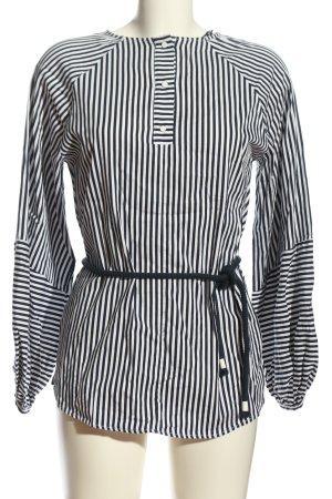 Zara Langarm-Bluse schwarz-weiß Streifenmuster Business-Look