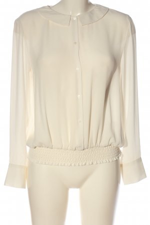 Zara Langarm-Bluse creme Business-Look