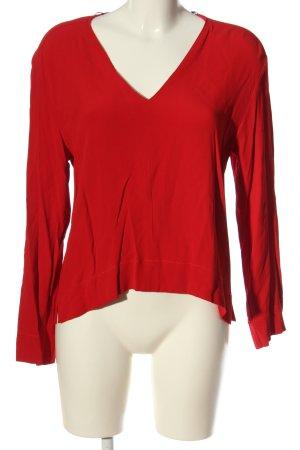 Zara Langarm-Bluse rot Casual-Look