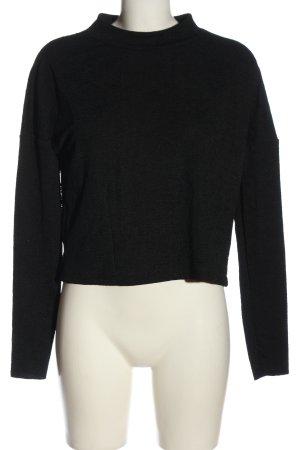 Zara Feinstrickpullover schwarz Casual-Look