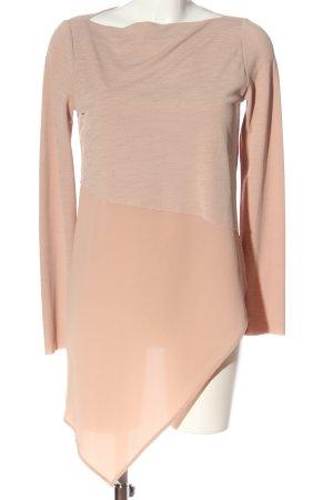Zara Feinstrickpullover nude meliert Elegant