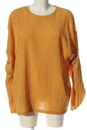 Zara Langarm-Bluse blassgelb Elegant