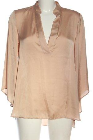Zara Langarm-Bluse nude Elegant