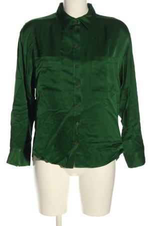 Zara Langarm-Bluse grün Business-Look