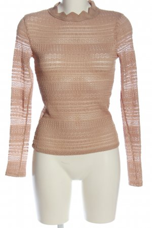 Zara Langarm-Bluse nude Street-Fashion-Look