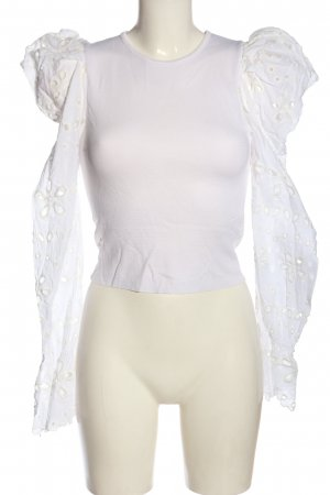 Zara Langarm-Bluse weiß Elegant