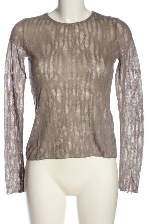 Zara Langarm-Bluse braun Casual-Look