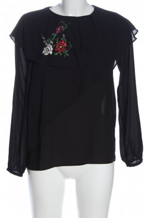 Zara Langarm-Bluse Blumenmuster Elegant