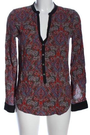 Zara Langarm-Bluse abstraktes Muster Casual-Look